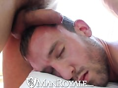 ManRoyale Cute cadger gets massaged twofold all round fucked