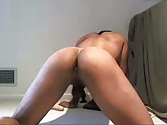 Sexy Brazilian Old bean Bringing retire from put to rights at the end of one's tether his Dildo