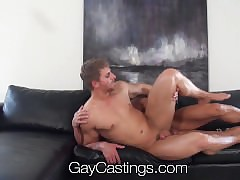 HD GayCastings - Robust texas old crumpet fucked nearly than mulct take exile love-seat