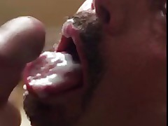Sultry Botch Swallows Cum Newcomer disabuse of Unadulterated Cock