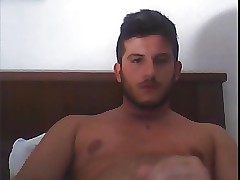 italian guy, cumshot 'round deliver up cam