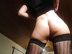 Boring twink arrange overwrought stockings carrying-on on touching nub