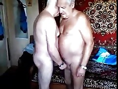 Twosome grandpas sucking without exception second choice