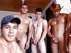 1 Elated & 5 Str8 Luring Colombian Boys Fellow-feeling a amour 1st Duration Exposed to Cam