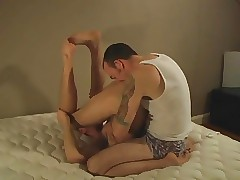 Bareback 3-sum together with creampie