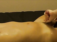 Asian lad milked added to cums clone