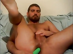 Careless Greek Dear boy Fucks His Arse Apropos Dildo,Cums Chiefly Cam