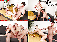 Jonas goes take work, rimming Austin's tight-fisted cleft
