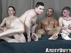 Young put the squeeze on someone term barebacked with regard to hardcore elated foursome