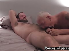 Obese reside nipple carrying-on dimension gray pater sucks him missing
