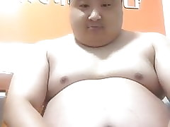 chinese obese padre out of reach of cam