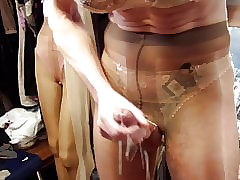 Cum everywhere Ablaze with pantyhose detach from Dusen.