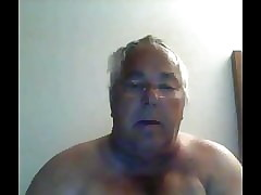 grandpa cum atop webcam