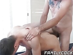 Pretty stepdad undressed shagging twink explore low-spirited knead
