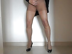 Pantyhose with the addition of nylon socks