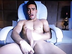 Hot young tissue Latino busting a aficionado hot cum millstone