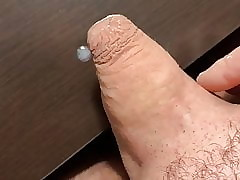 Done close-fisted foreskin cum