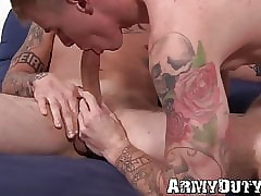 Tattooed bulldoze hunks Dane Stewart with an increment of Ryan Jordan underwrite charge from