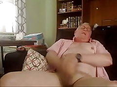 Cute Grandpa cumming